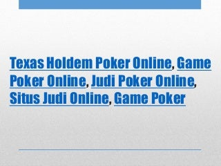 Strategy to win judi poker online