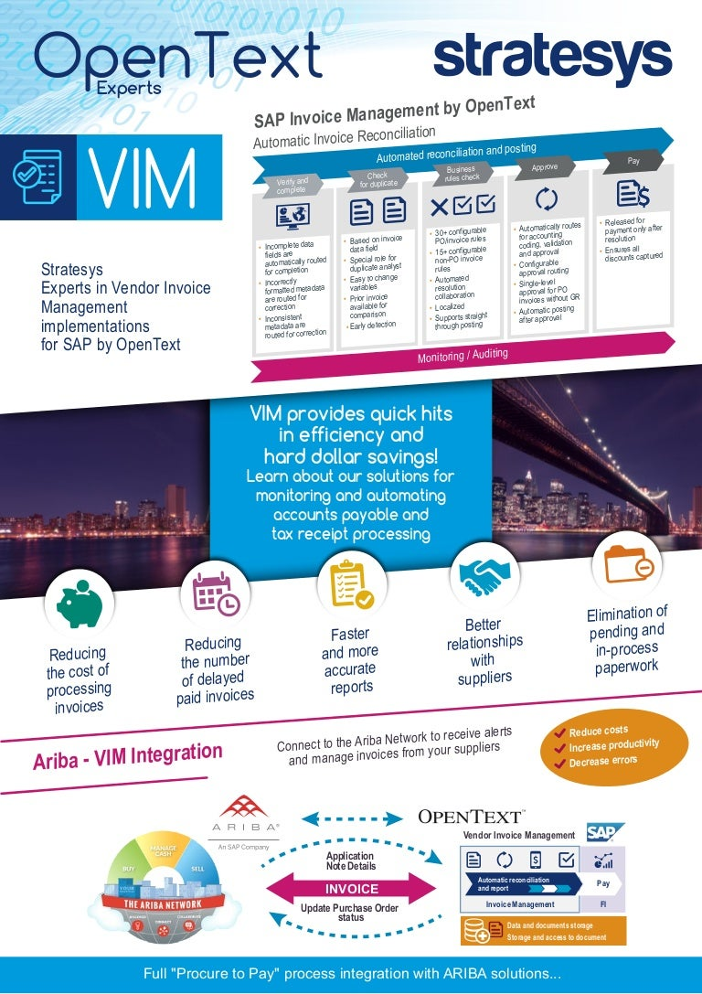 Stratesys OpenText Solutions VIM USA - Open text invoice management