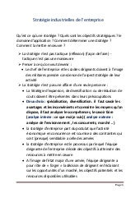 resume conomie industrielle s6 learneconomieblogspotcom - Resume Science Islamique Bac