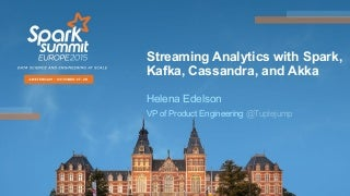 Streaming Analytics with Spark, Kafka, Cassandra and Akka