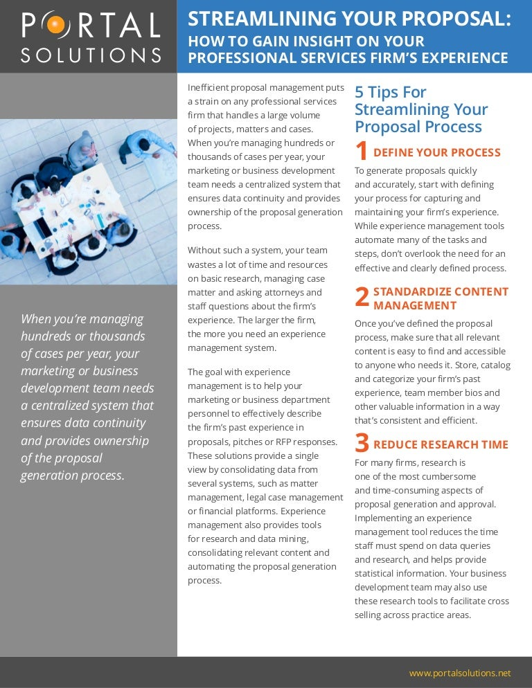 Tip Sheet: Streamlining Your Proposal Management Processes