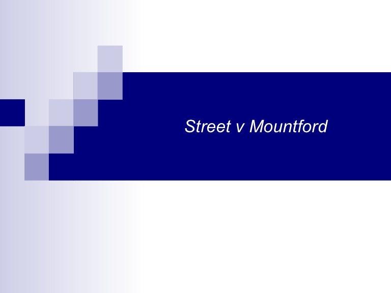 street mountford