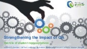 Strengthening the impact of QA: a student perspective