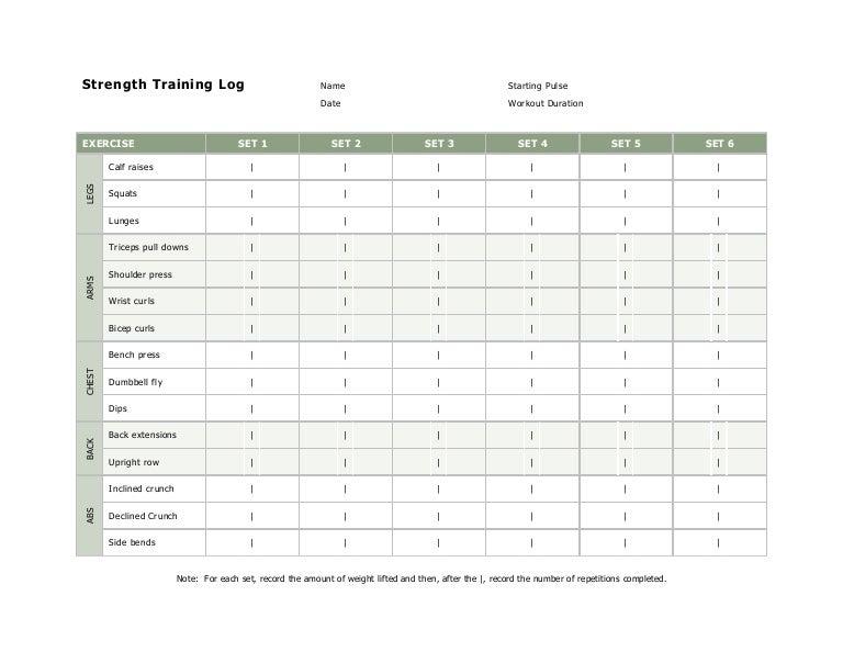 workout log book template - Jose.mulinohouse.co