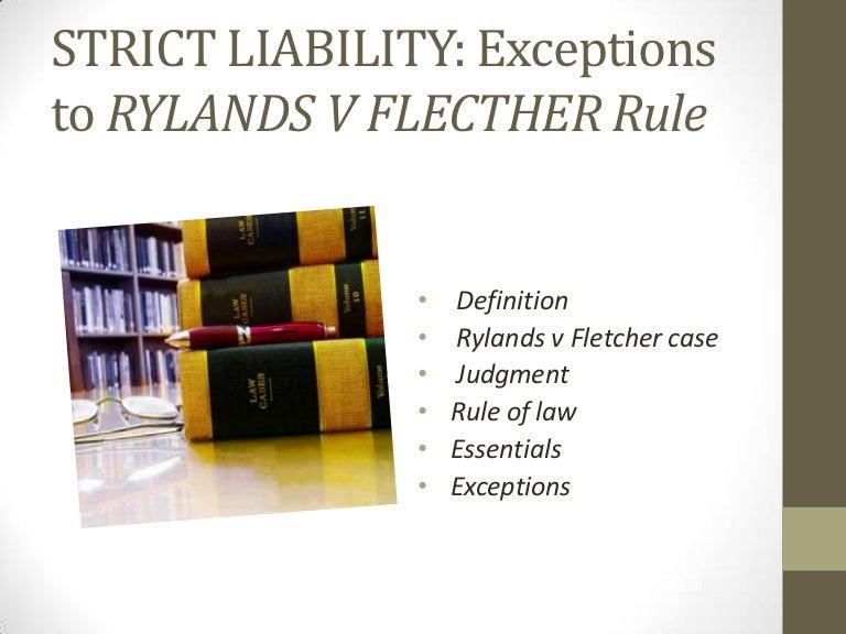 Strict liability essay