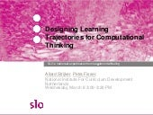 Designing learning trajectories for computational thinking | SITE2017