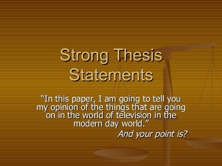 amazing thesis statements