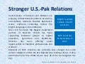 Stronger US-Pakistan Ties