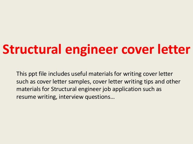 Good Structural Engineering Cover Letter