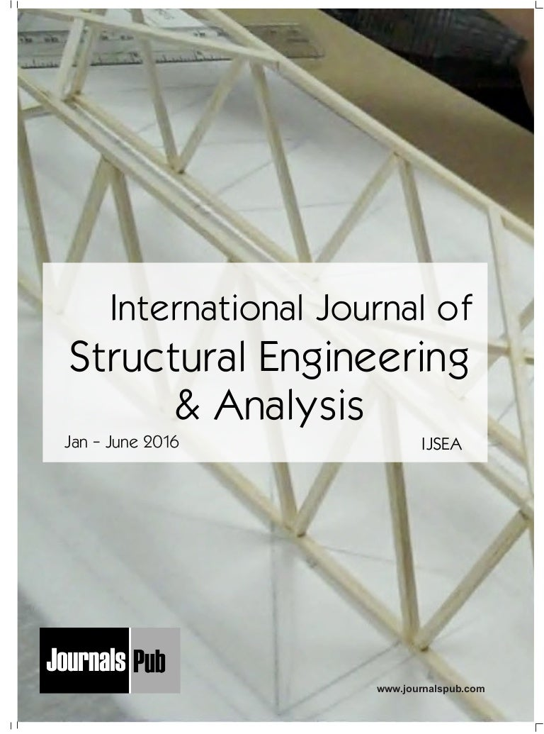 International Journal of Structural Engineering and Analysis vol 2 is…