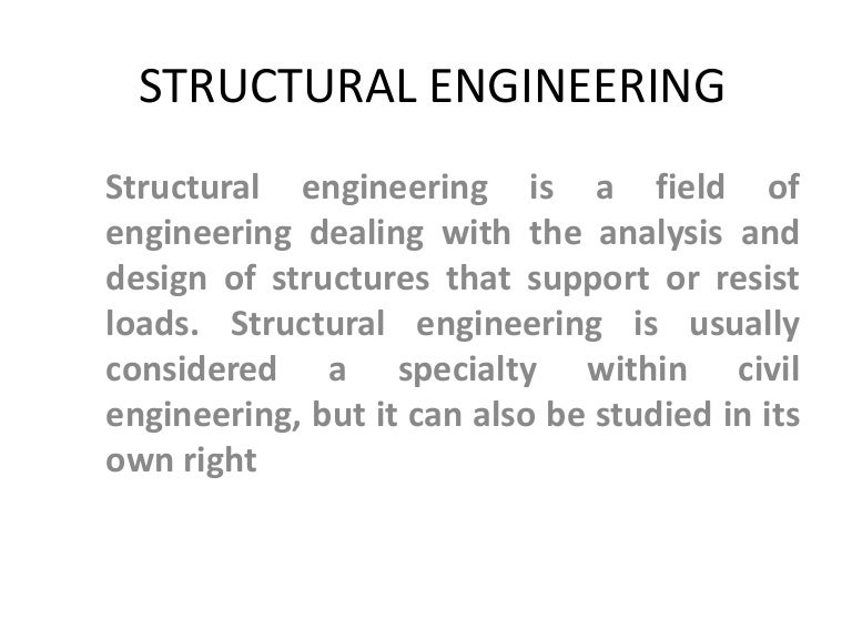 Structural engineering ppt 1