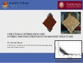 Numerical and experimental investigation on existing structures: two seminars