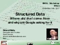 Structured data: Where did that come from & why are Google asking for it