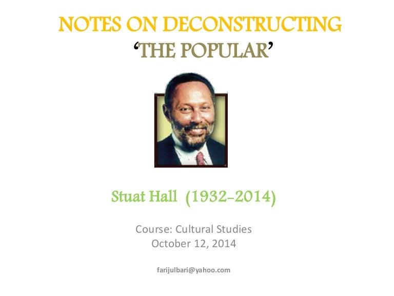 Deconstructing Popular Culture