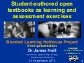 Student authored open textbook - 5 min presentation