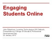 Student engagement in online learning