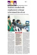 Students enrolled with employment exchange to be trained, free of cost dna   kalyan dombivili, 7th may 2011, p1