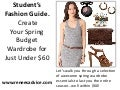 Student's Fashion Guide.  Create Your Spring Budget Wardrobe for Just Under $60