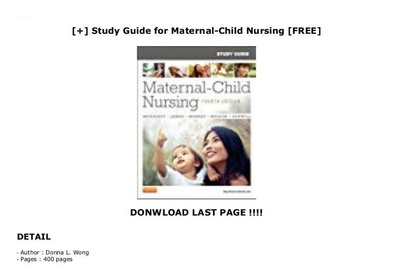 Best pdf] study guide for maternal child nursing care, 5e by shann….