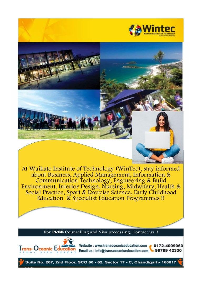 Waikato Institute Of Technology WinTec Hamilton New Zealand