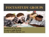 Focused/Study group ppt