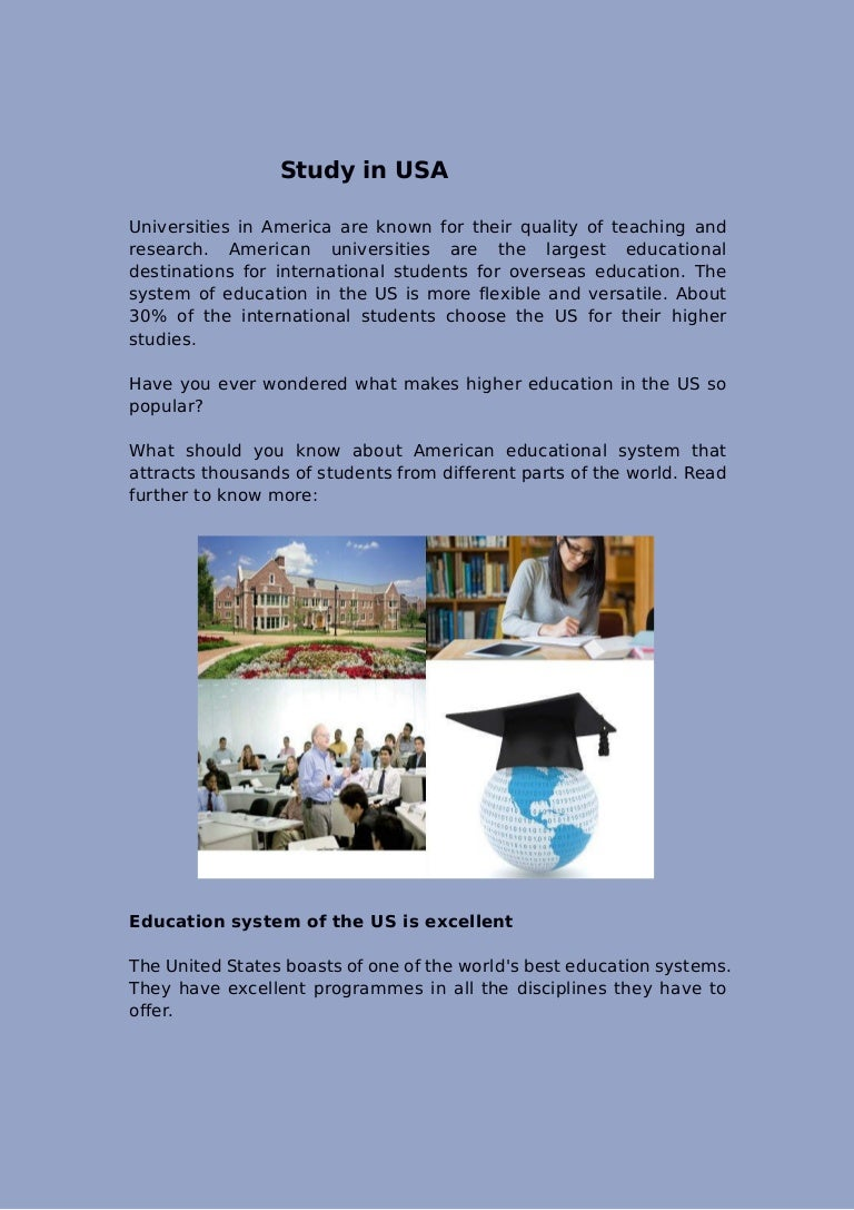 Study In Usa - Largest universities in usa