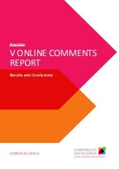 Study. Online Comments Report BEO 2016