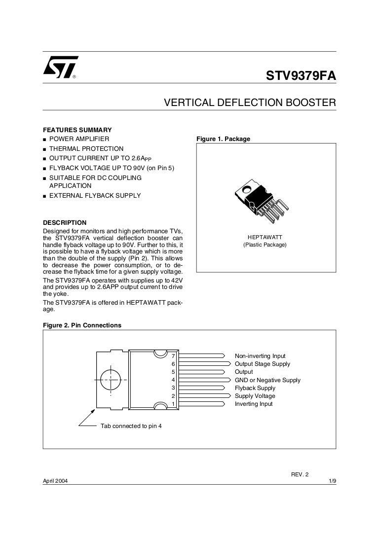 St V9379 Fa Electronic Circuit Diagram Tv Vertical Using La78041 La78040
