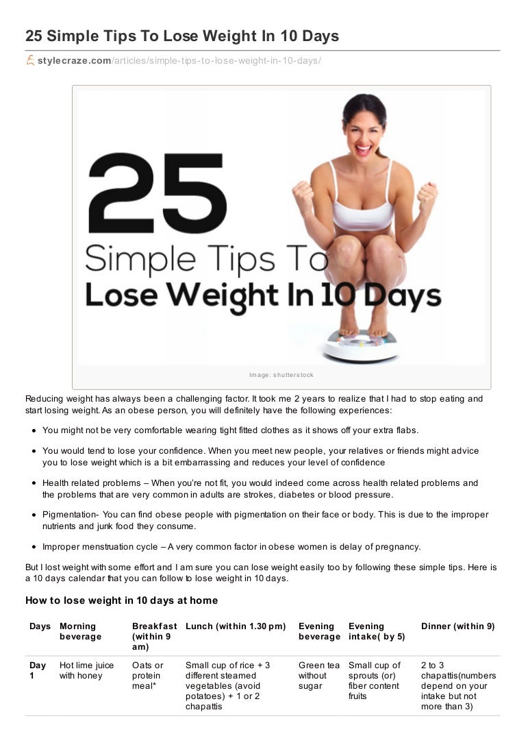 25 Simple Ways To Lose Weight Without Dieting picture