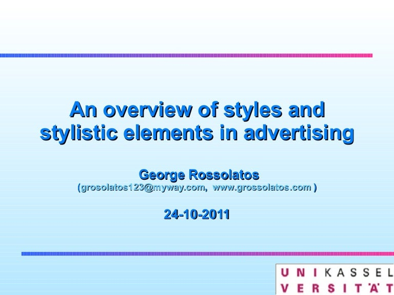 stylistic devices in advertising