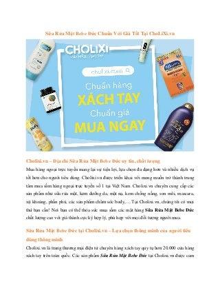 Sữa Rửa Mặt Bebe Đức Chuẩn Với Giá Tốt Tại ChoLiXi.vn