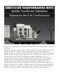 Mobile Transformer Substation Latin America. Subestacion Transformadora Movil America Latina. renso.piovesan@eeicorp.us