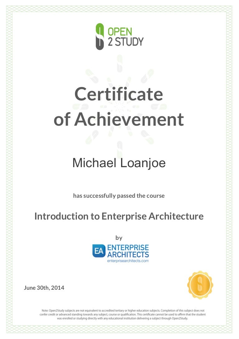 Introduction of enterprise architecture togaf certificate introduction of enterprise architecture togaf 1betcityfo Image collections