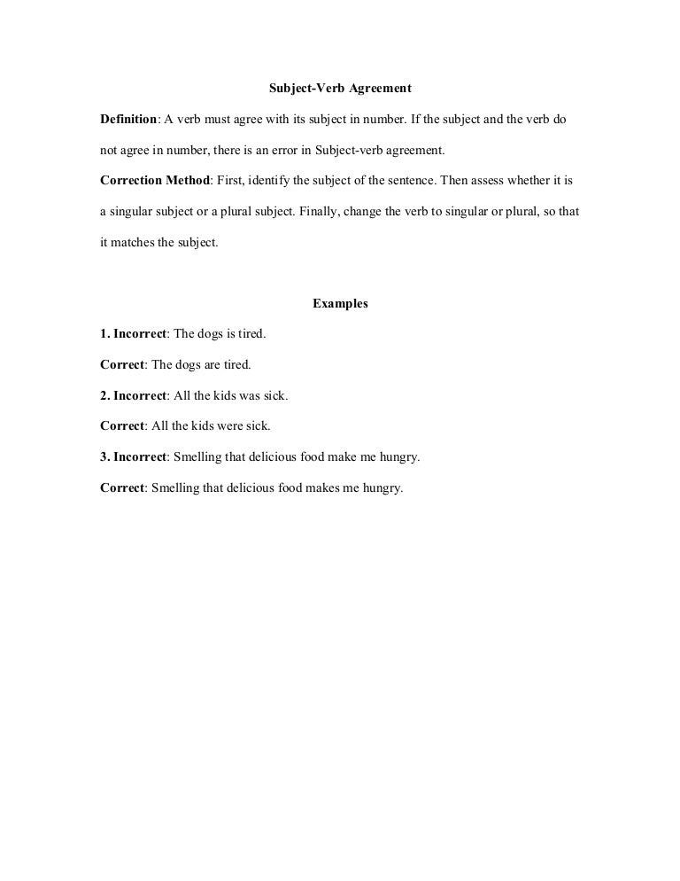 Subjectverb Agreement Gs