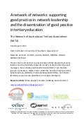 Supporting Good Practice in Network Leadership