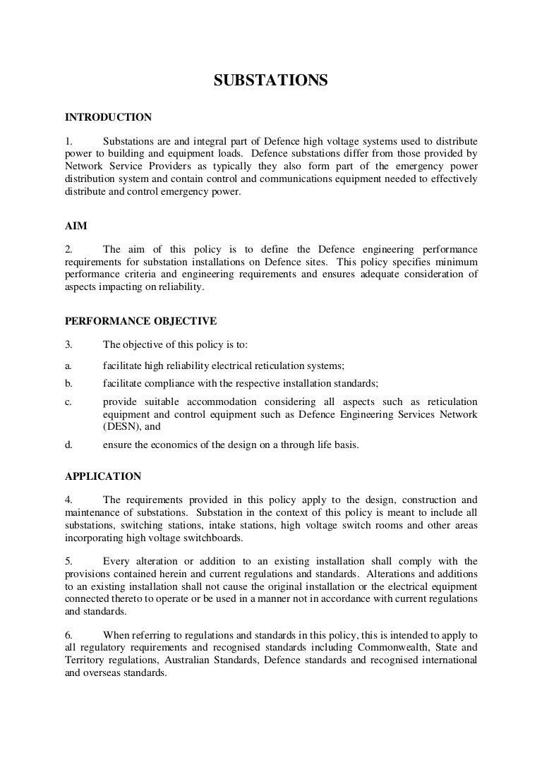 Substationv0 Australian Wiring Regulations