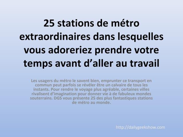 Subway stations around the world