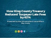 SUCCESS STORY: How King County Treasury Reduced Taxpayer Late Fees by 62%, Featuring Ana Schoenecker & Laura Wilson