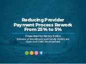 SUCCESS STORY: Reducing Provider Payment Process Rework From 25% to 5%