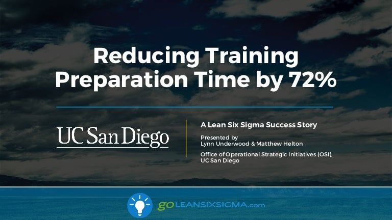 Success Story Reducing Training Preparation Time By 72