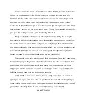 importance of success essay