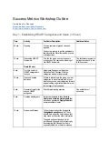 Success Metrics Workshop outline