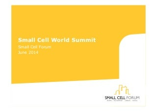 Small Cells World Summit 2014 keynote: Sue Monahan CEO Small Cell Forum