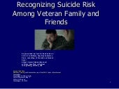 Recognizing Suicide Risk Among Veteran Family and Friends