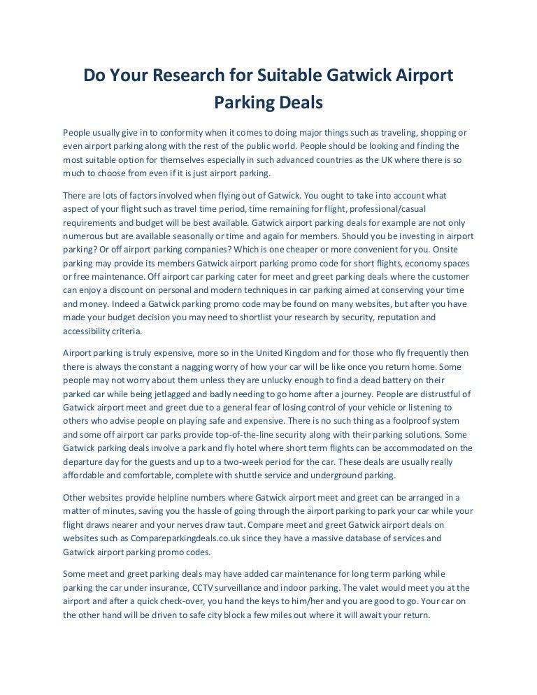 Suitable gatwick airport parking deals m4hsunfo
