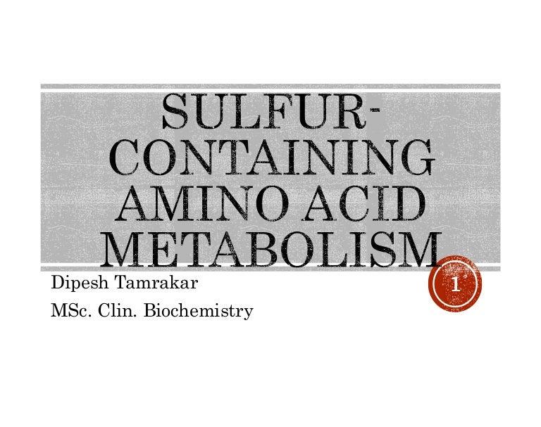 Sulfur Content of Foods