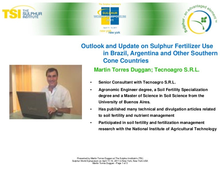 Sulphur fertilization in brazil and argentina sulphur world symposiu sciox Image collections