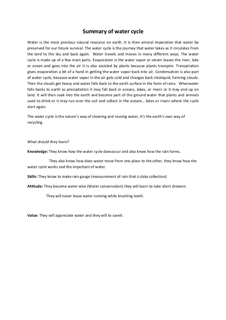 Essay Of Water Water Cycle Essay Peoplesoft Financial Tester Cover Letter  Summary Of Water Cycle Summaryofwatercycle