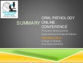Summary (How to enjoy and get the full benefit of oral pathology subject?)