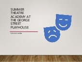 Summer Theatre Academy at the George Street Playhouse